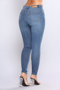 Pasha Skinny Jeans - Medium Blue Wash