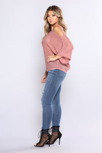 Knit My Heart Sweater - Marsala