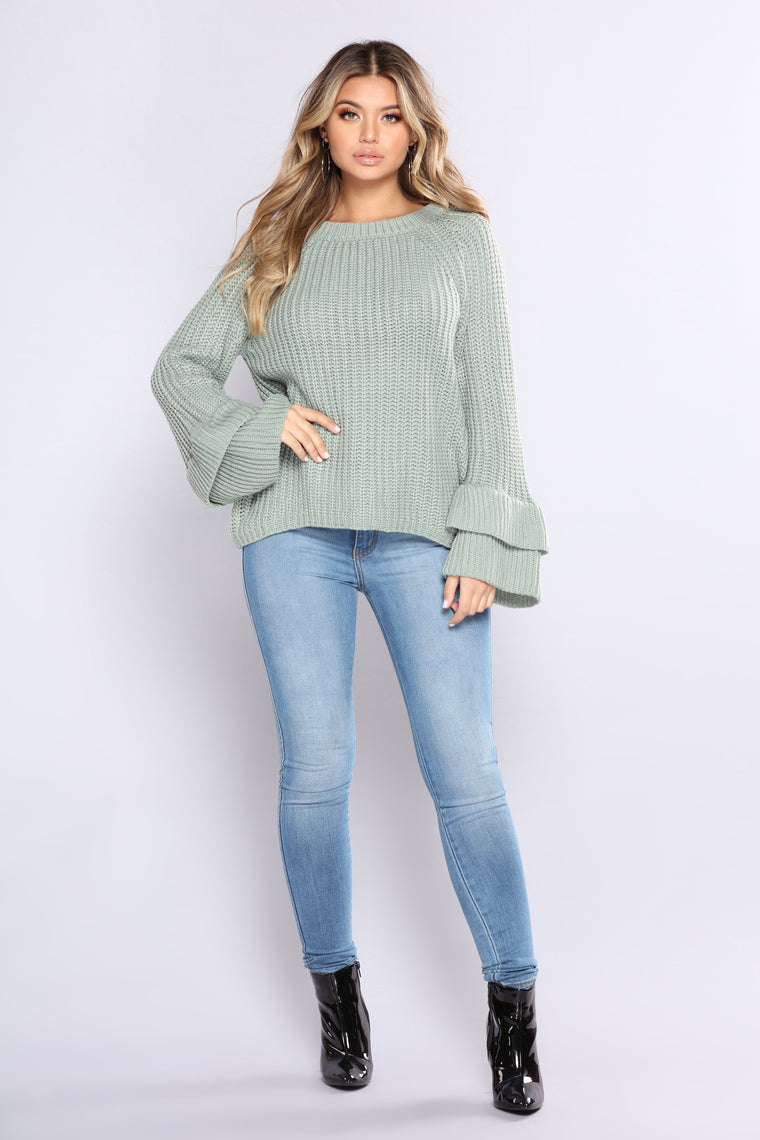 Move In Silence Sweater - Mint