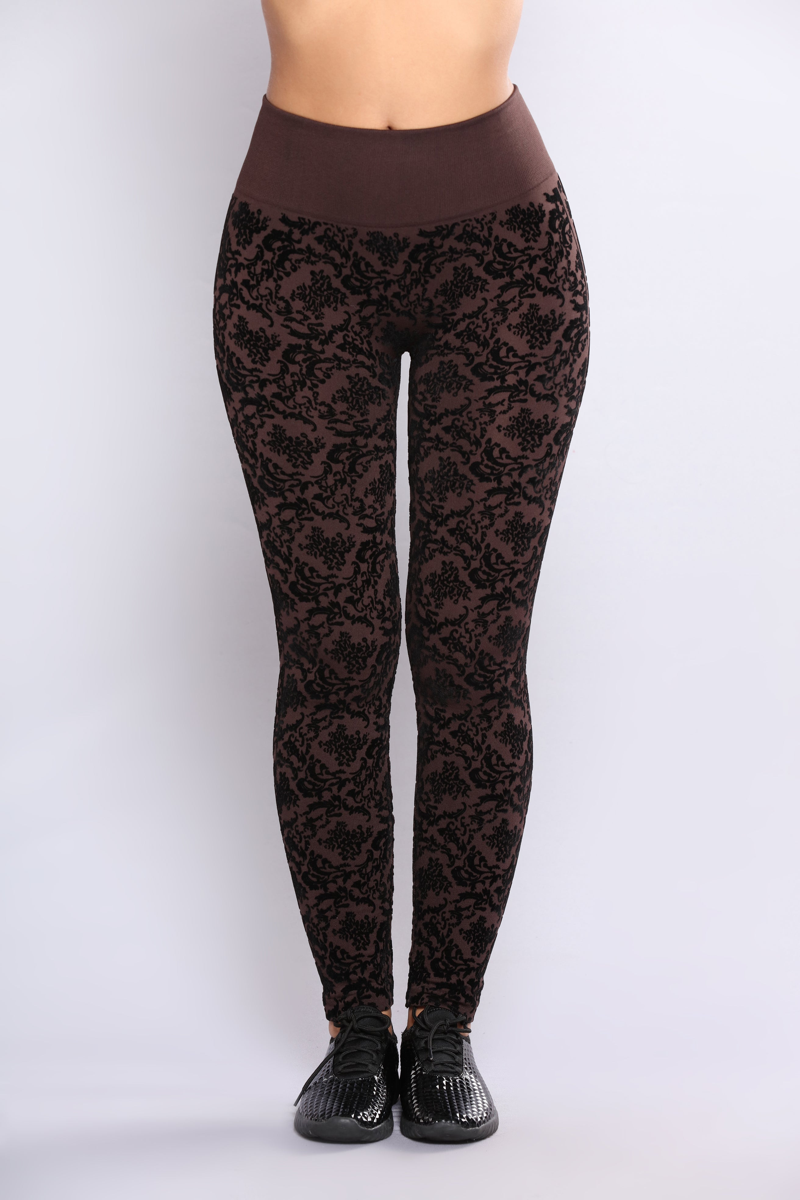 3dff1d972b61 Audrey Fleece Lined Leggings - Chocolate