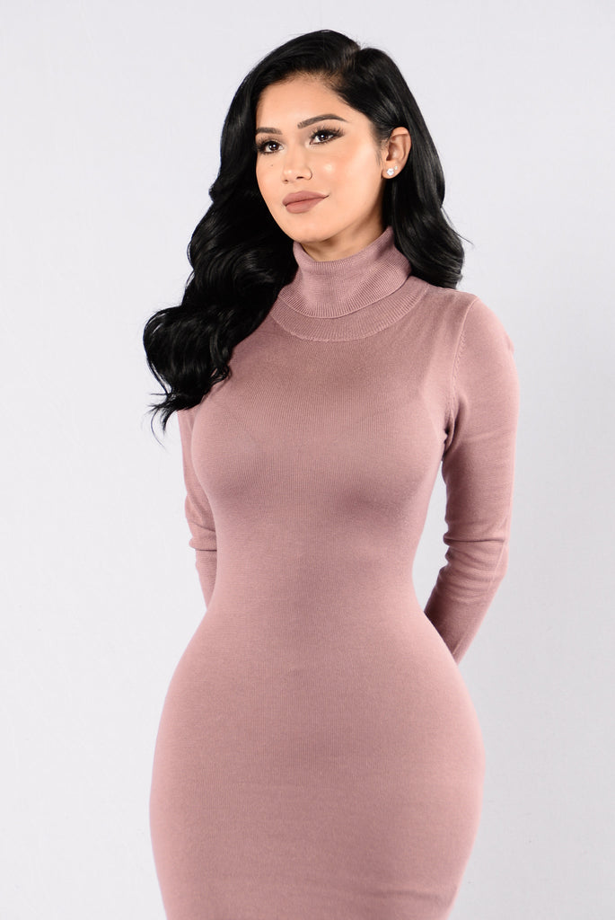 Say Hey Dress - Dark Mauve