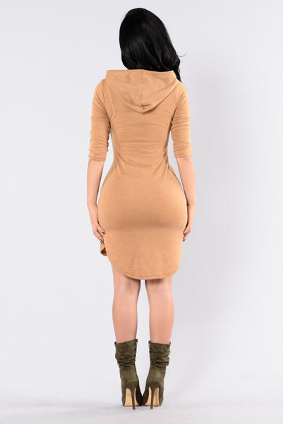 Back In The Hood Dress - Mustard