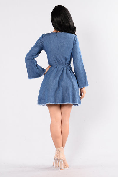 Superfly Dress - Medium Wash