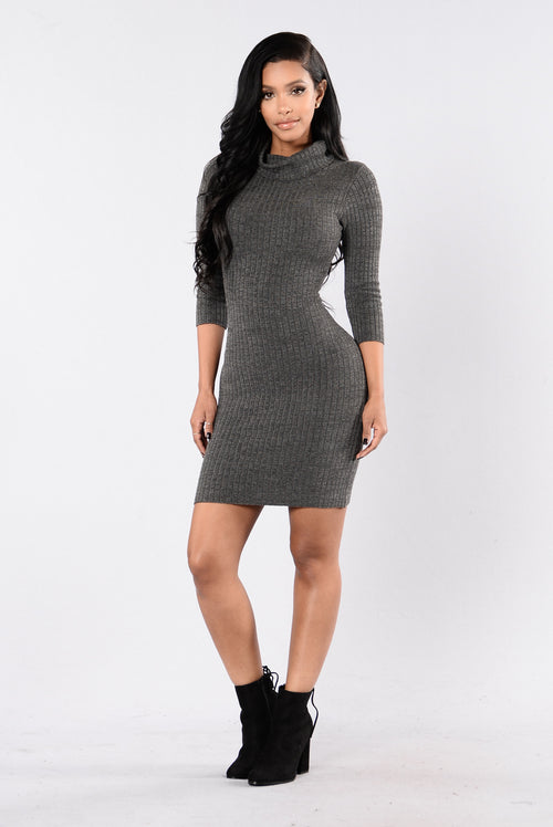 Perfectly Fit For Me Dress - Charcoal