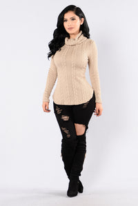 Cabin Lover Sweater - Taupe Angle 4
