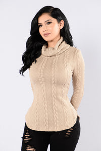 Cabin Lover Sweater - Taupe Angle 1