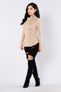 Cabin Lover Sweater - Taupe Angle 6