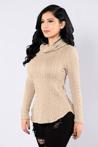 Cabin Lover Sweater - Taupe Angle 2