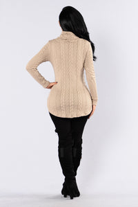 Cabin Lover Sweater - Taupe Angle 5