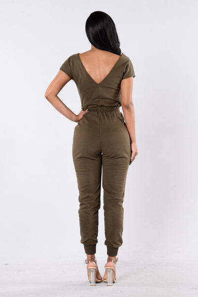 All Fresh Jumpsuit - Olive