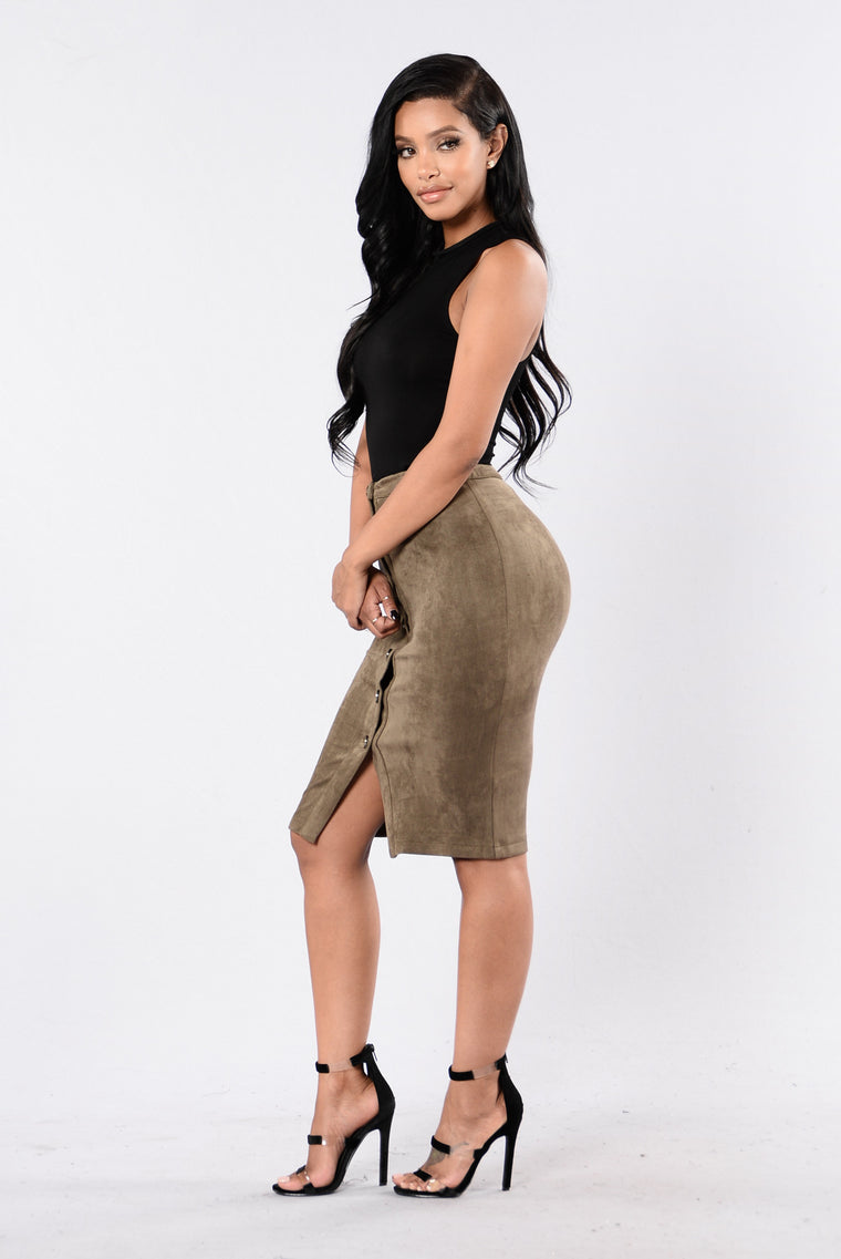 Nobody's Business Skirt - Olive