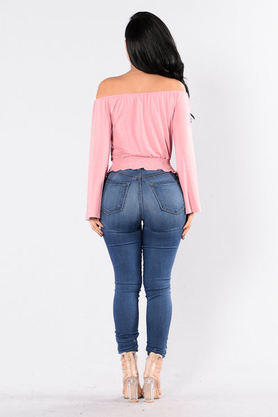 Shimmy Shimmy Top - Mauve