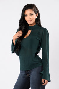 My Bella Top - Hunter Green