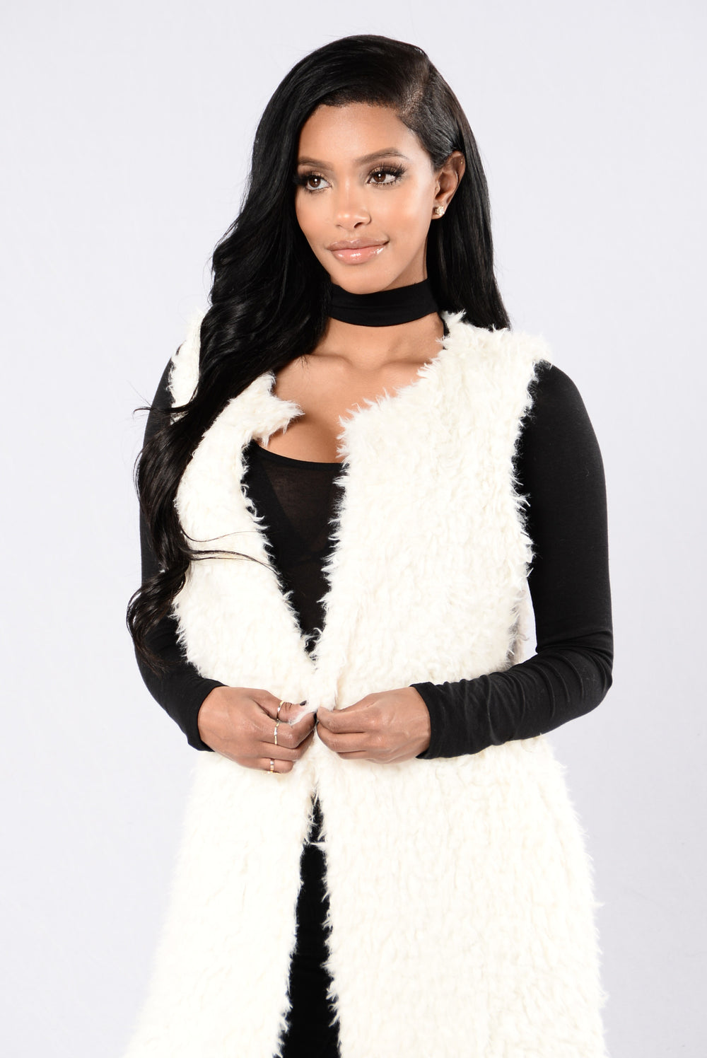 Fashionista In The Snow Vest - Off White
