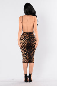 Too Rare Dress - Leopard