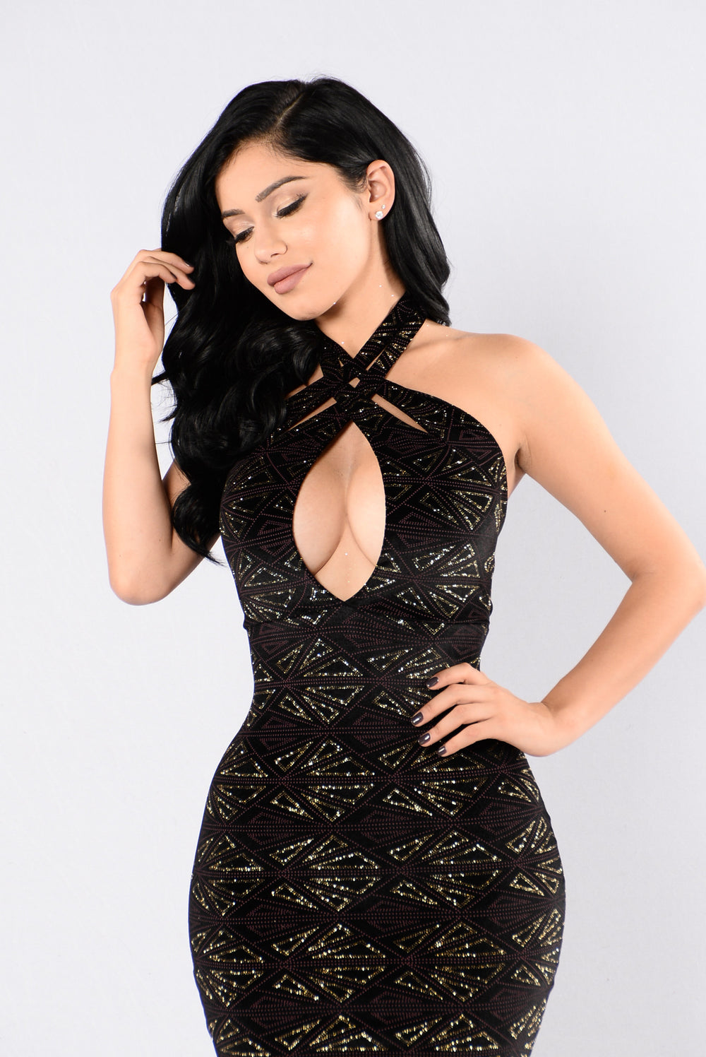 Casino Royal Dress - Gold/Black