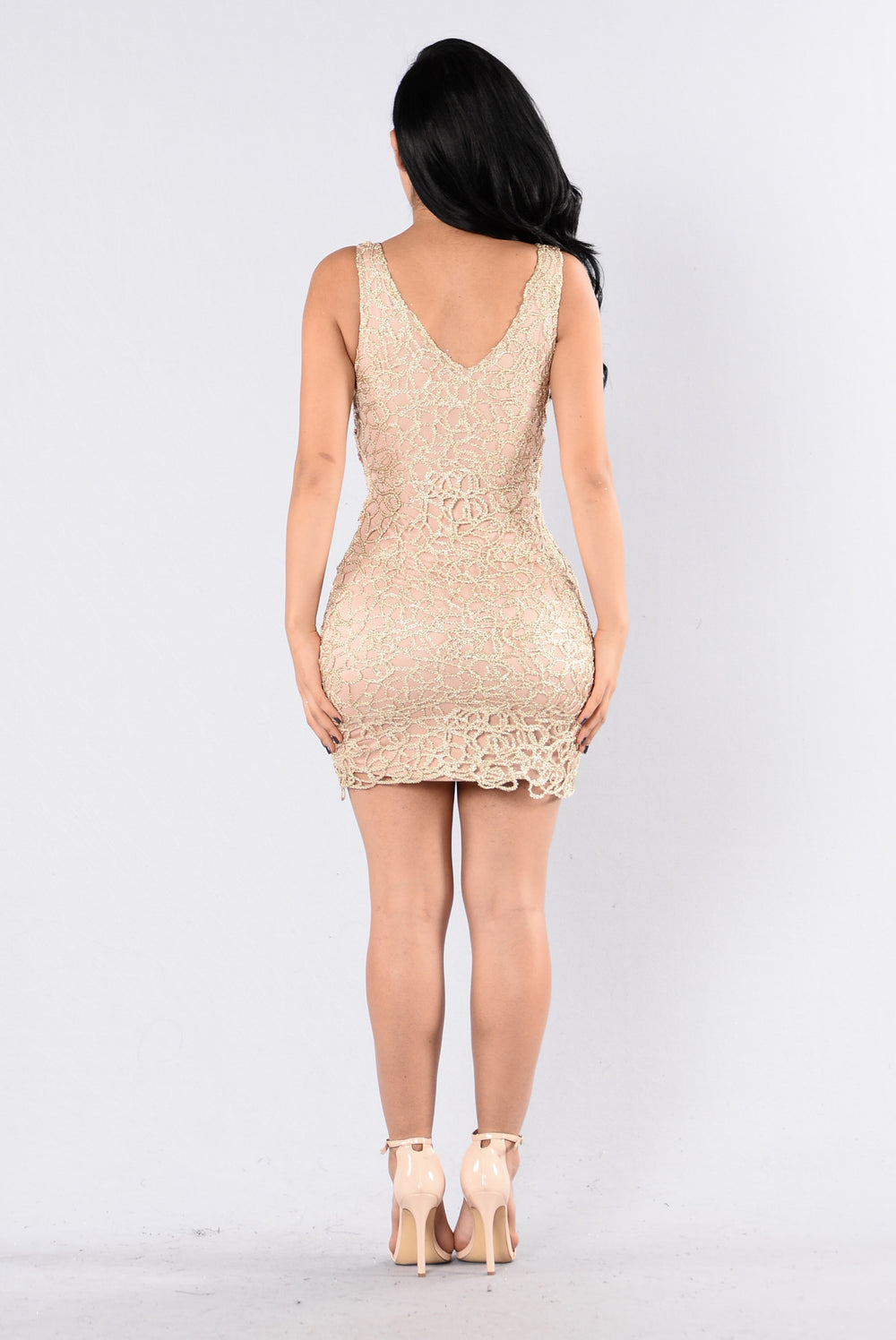 Barely Nude Dress - Gold