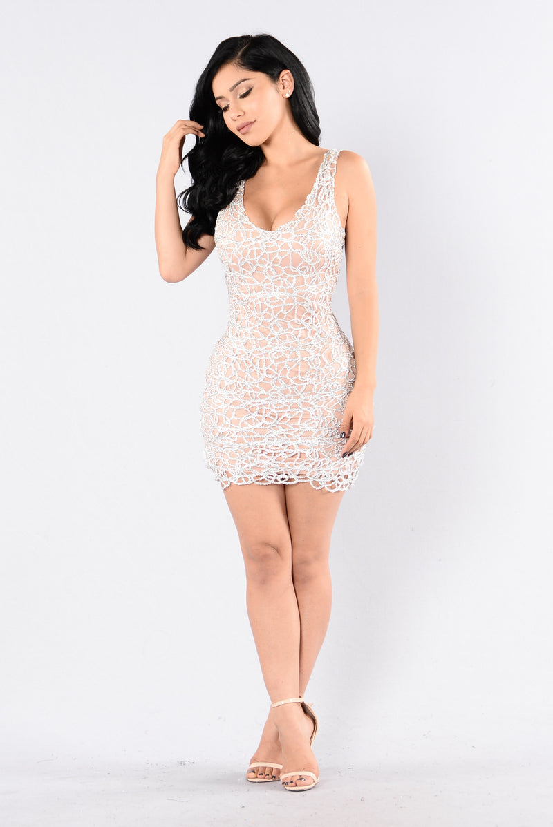 Barely Nude Dress - Silver