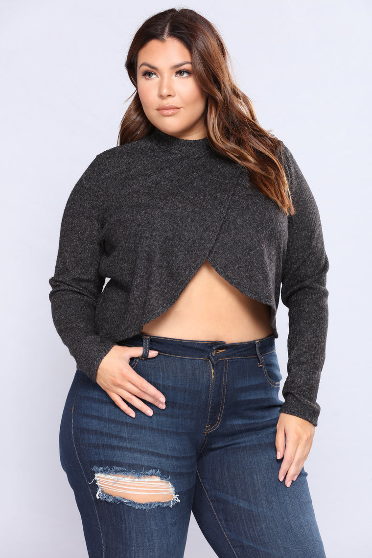 From Night To Day Top - Charcoal