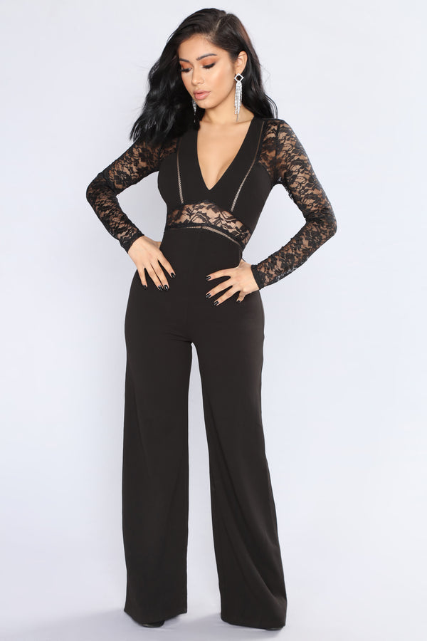 1527ea6748ff Hanna Lace Cut Out Jumpsuit - Black