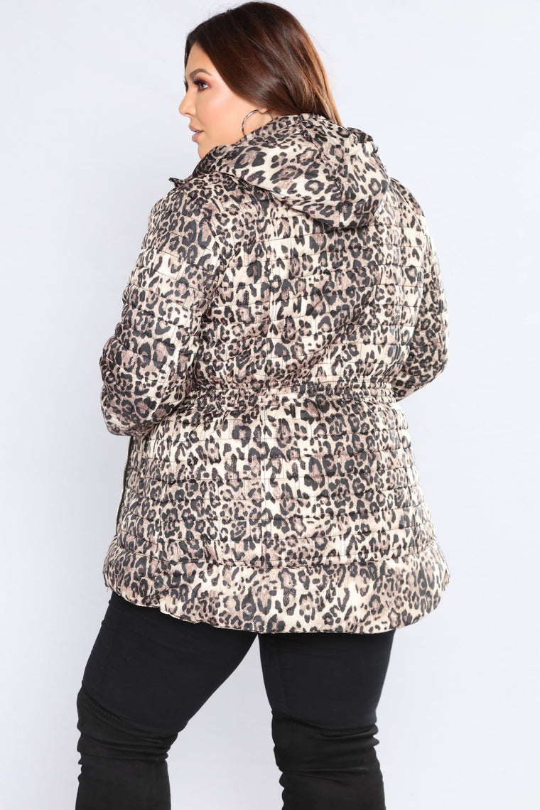 Keep Out II Leopard Jacket - Beige