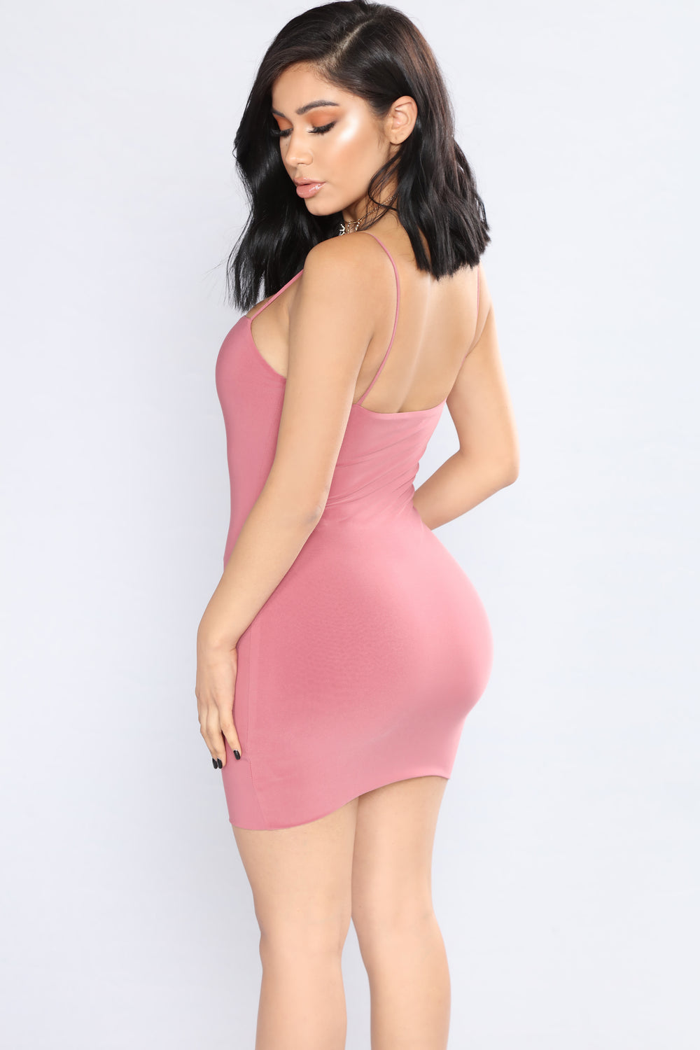 Straight To The Point Dress - Pink