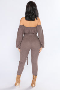 Don't Cry On My Shoulder Jumpsuit - Mocha