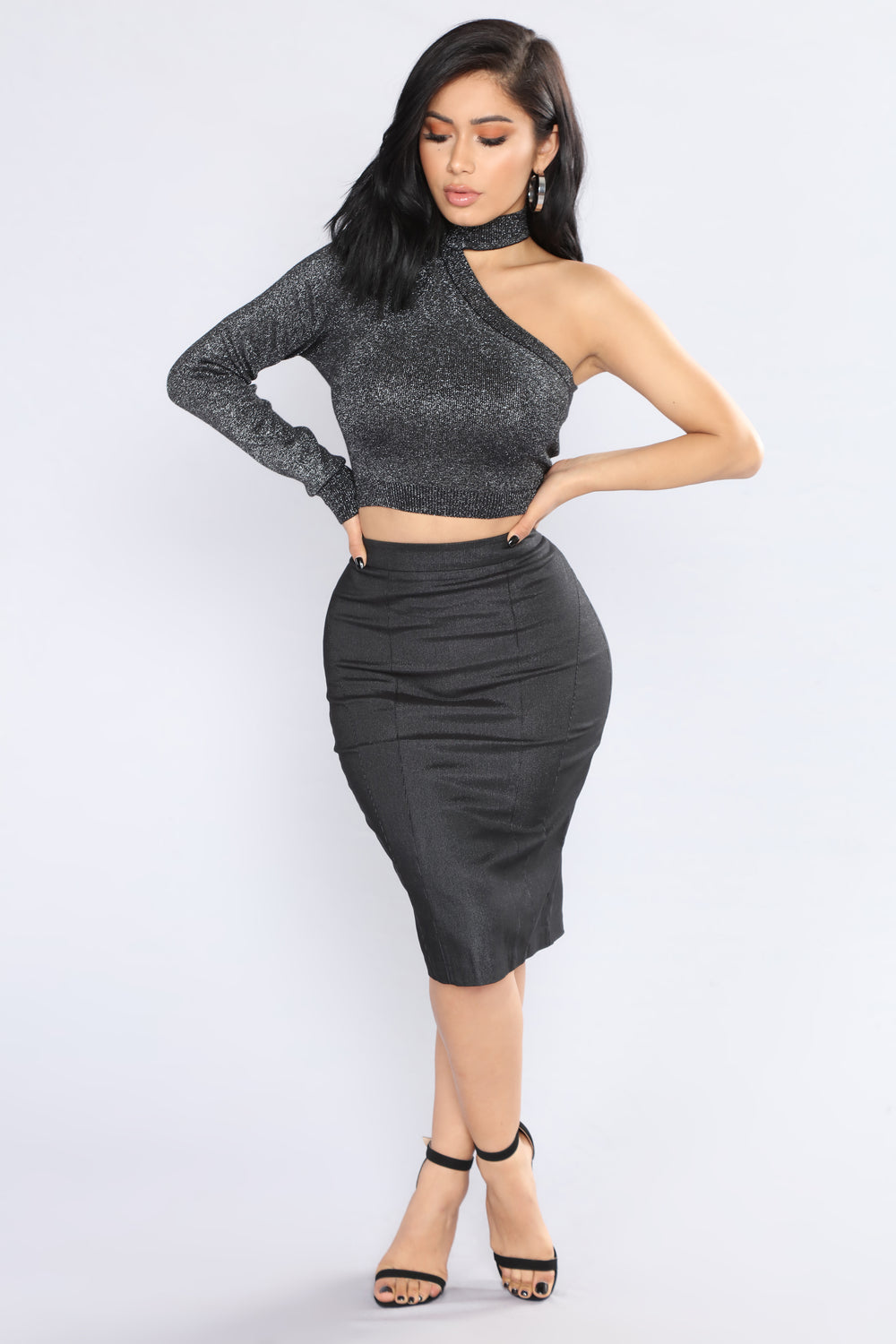 Fame Is Blinding Pencil Skirt - Black