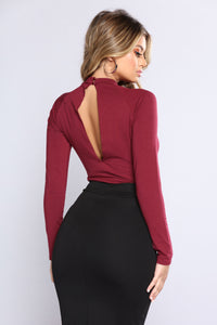 I Say IT Best Bodysuit - Merlot