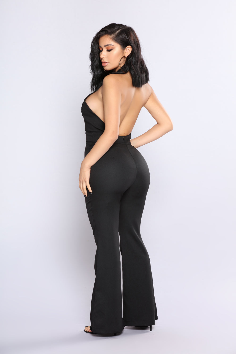 Hidden Talent Wide Leg Jumpsuit - Black