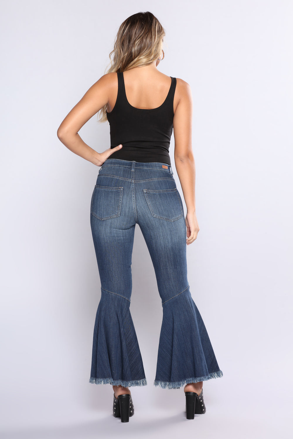 Elevated Stuntin Snap Button Jeans - Dark Denim