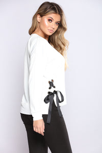 Rather Be In With You Top - Soft White