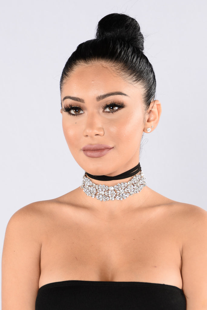 Unbothered Choker - Silver