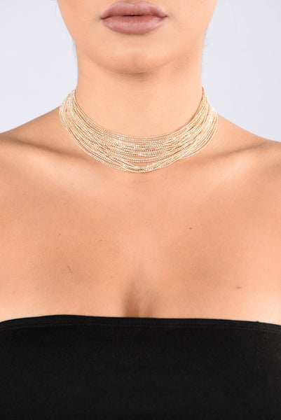 Ball and Chain Choker - Gold