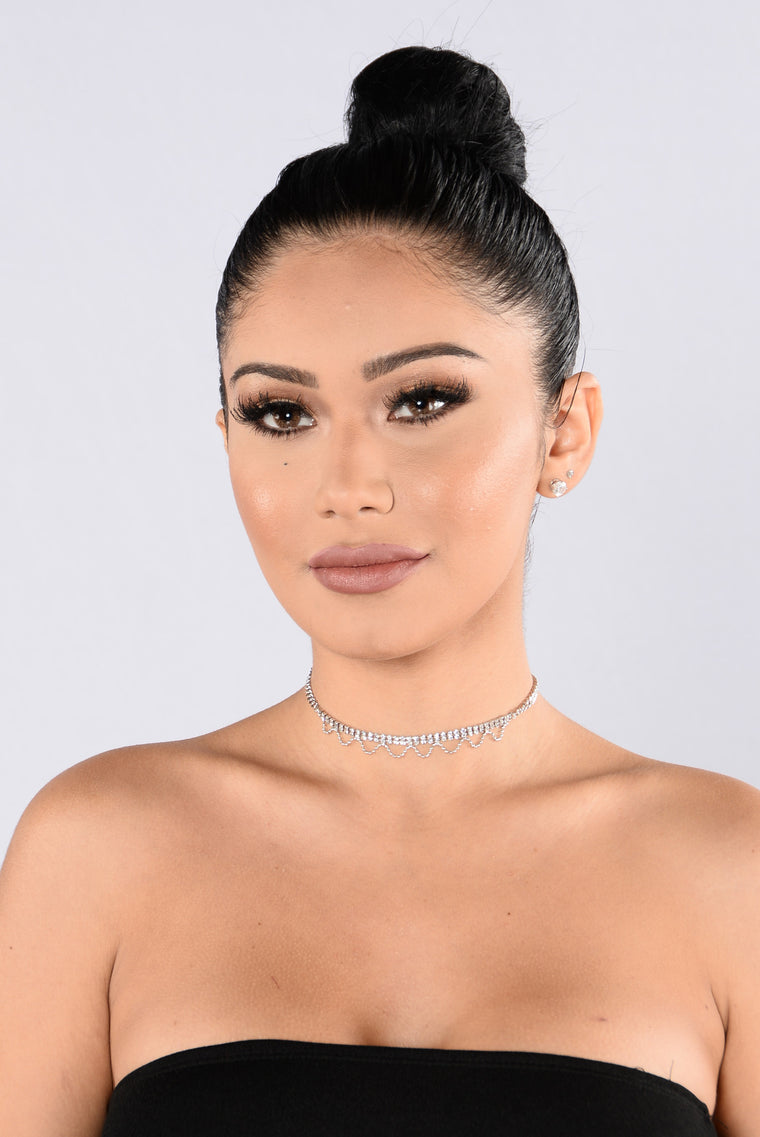 Never Under Dressed Choker - Silver
