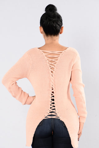 Back It Up Sweater - Blush