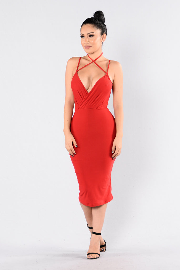 Chain Of Fools Dress - Red