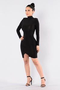 It's Alright Dress - Black Angle 2
