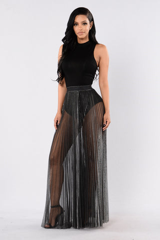 Moonlight Skirt - Black/Silver