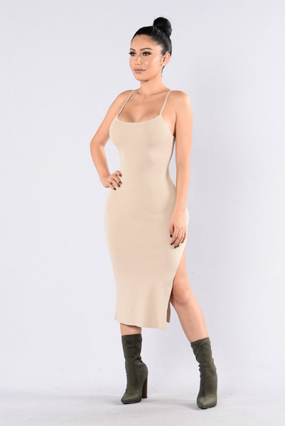 Smooth Talker Dress - Taupe