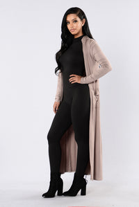 Addicted To You Cardigan - Taupe