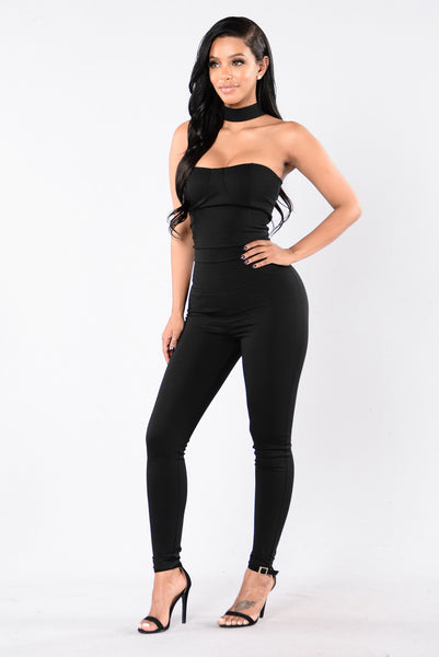 I Think They Like Me Jumpsuit - Black