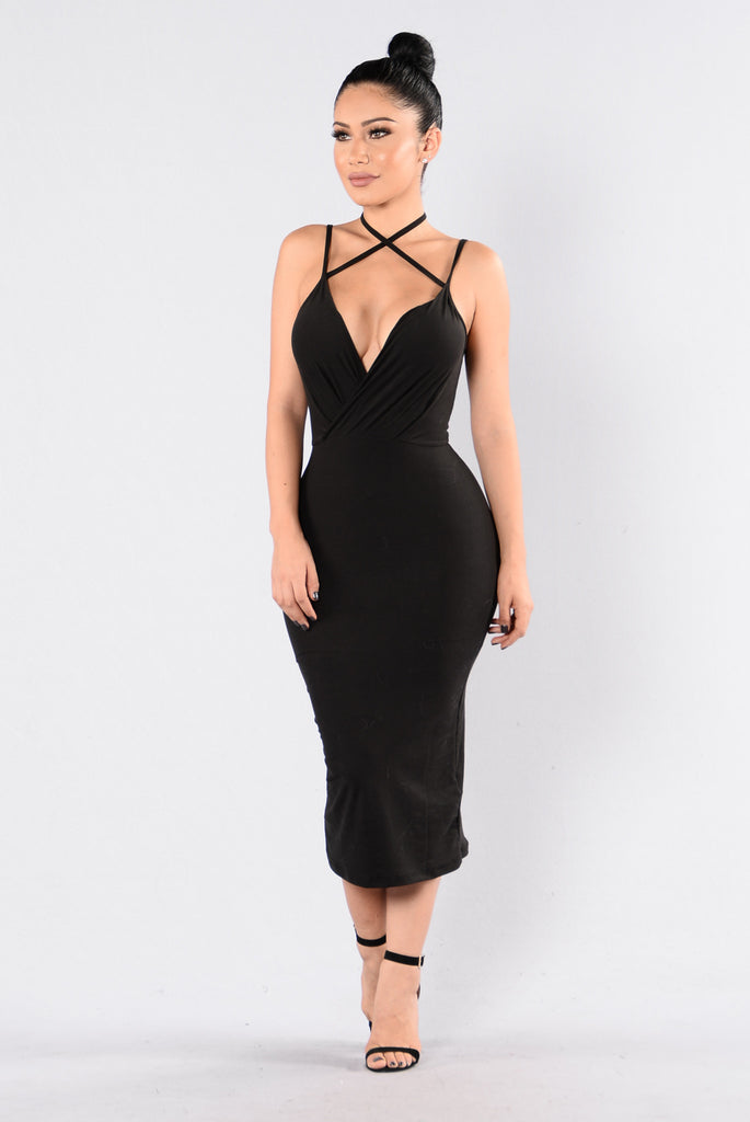 Chain Of Fools Dress - Black