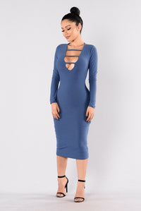 Singled Out Dress - Denim Blue