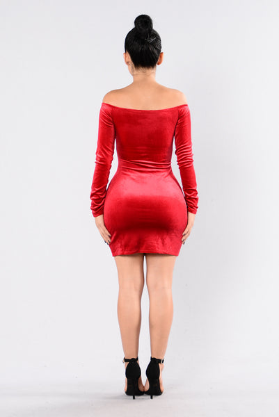 Sprung Up Dress - Red
