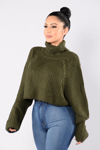 A Woman's Worth Sweater - Olive