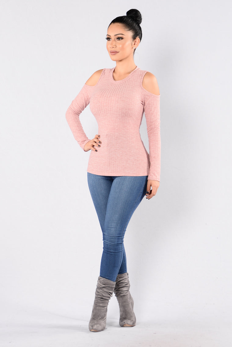 False Alarm Top - Dusty Pink