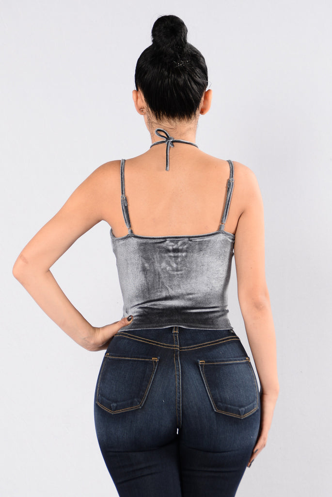 Breakaway Crop Top - Gunmetal