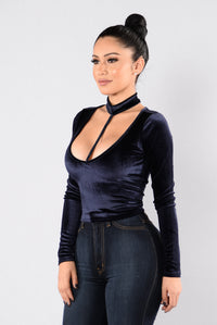 Rain Dance Crop Top - Navy