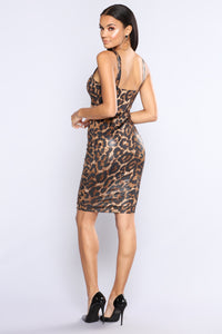 Wild Night Out Dress - Leopard